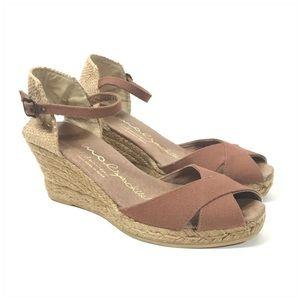 Gaimo Espadrille Wedge Peep Toe Sandals Size 37